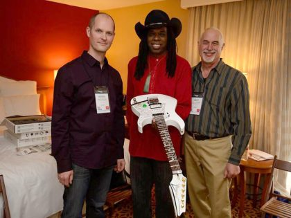 NAMM 01.2014 - Special demo of the new Auto Tune Guitar System at the hotel.
