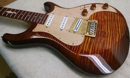 Knaggs Sevren with Custom Larry Mitchell Inlay 08.2014 - Getting there!