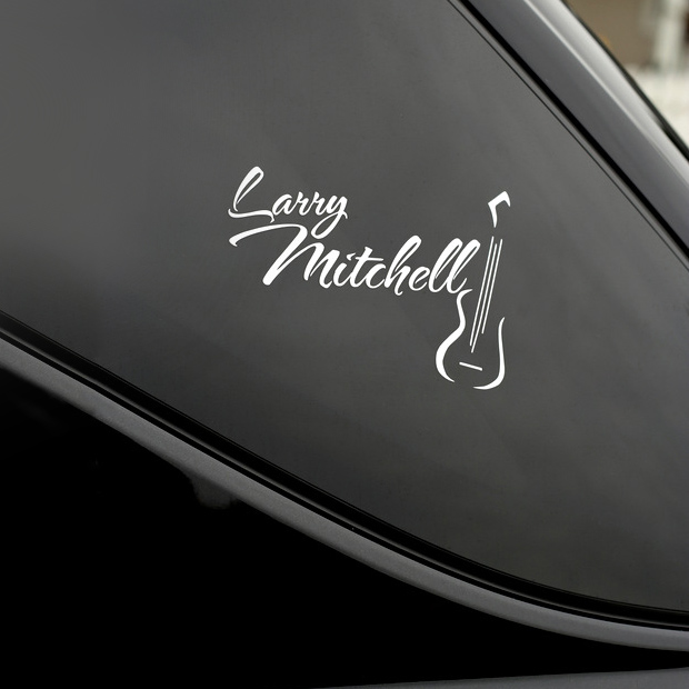 Acoustic Decal Larry Mitchell