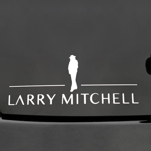Silhouette Window Sticker Larry Mitchell