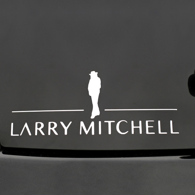 Silhouette Window Sticker Larry Mitchell
