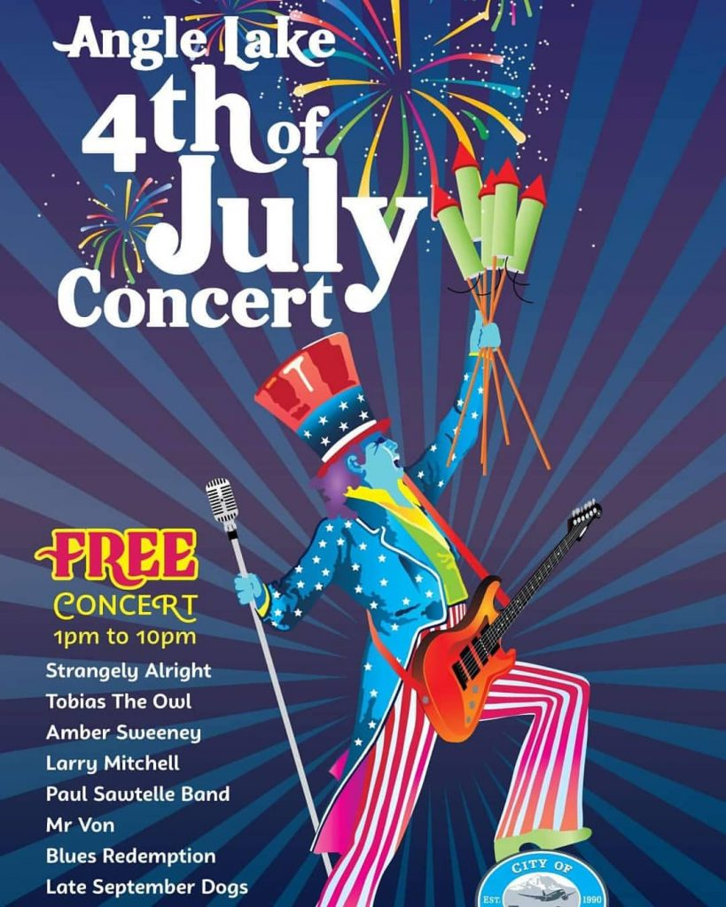 Larry Mitchell at Angle Lake Park July 4th Concert
