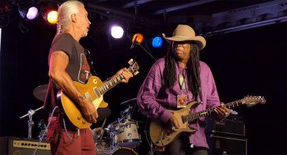 05.2021 - Dallas International Guitar Festival - Larry and George Lynch. Photo Source: 1AnitrasDance